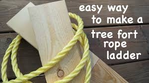 The Proper Way To Make A Bed How To Make A Strong Tree Fort Ladder The Easy Way
