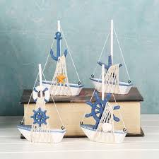 boat decor for home wooden nautical sailing boat model diy kits ship assembly decoration
