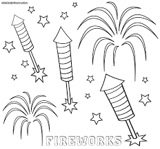 bang fireworks coloring pages sketch template with fireworks