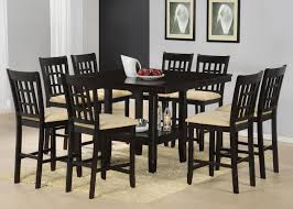 solid wood counter height table sets marvellous acme mira piece pack counter height set birch black