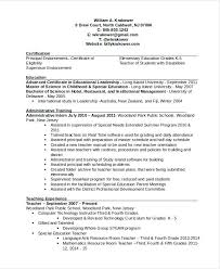 educational resume template school principal resume sle for teachers template the
