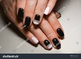 nail design black pink stock photo 632182937 shutterstock