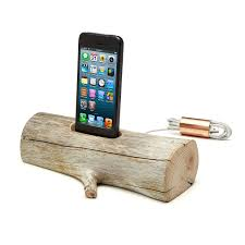 driftwood iphone charging dock apple ipod u0026 phone stand