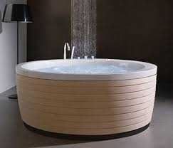 modern bathroom with a round tub jpg to round bath tubs home and