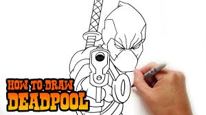 how to draw deadpool step by step lesson youtube