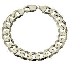 silver chain bracelet men images Mens 8 inch heavy sterling silver curb bracelet 13336 newburysonline jpg