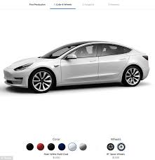 tesla sending u0027golden tickets u0027 to model 3 customers daily mail