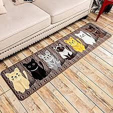 Machine Washable Kitchen Rugs Amazon Com B U0026s Feel Lovely Cats Pattern Bedroom Kitchen Mat Rug
