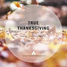 sermon topics thanksgiving temple baptist church