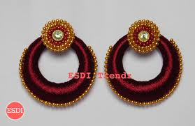 threaded earrings silk thread earrings esdi trendz
