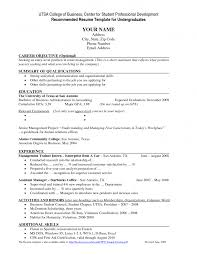 Example Of Objective In Resume For Jobs by Download College Student Resume Template Haadyaooverbayresort Com