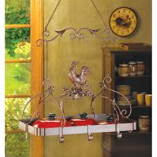 amazon com malibu creations 12657 country rooster kitchen rack