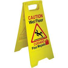wet floor sign yellow u2013 english spanish jon don