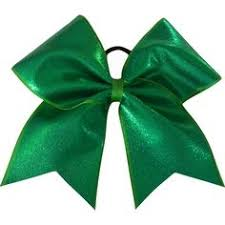 green and white glitter cheer bow by frontncentercheerbow