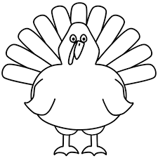 printable outline of a turkey u2013 happy thanksgiving