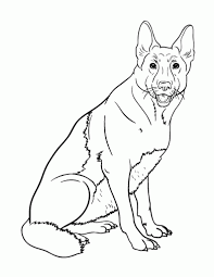 german shepherd coloring pages printable aecost net aecost net