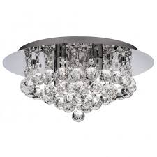 buy cheap crystal chandeliers circular flush fitting ip44 rated