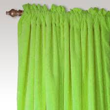 Green Curtains For Nursery Carnival Velvet Curtain Panel Pair In Lime Green And Nursery Kid