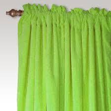 Green Nursery Curtains Carnival Velvet Curtain Panel Pair In Lime Green And Nursery Kid