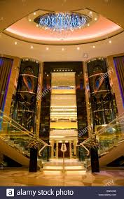 azura cruise ship atrium staircase stair well stock photo royalty