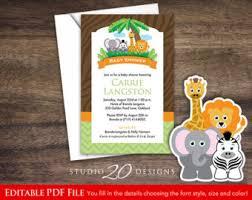 jungle themed baby shower safari baby shower etsy