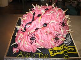 Halloween Brain Cake by 3d Brain Shaped Fear Factor Cake Decorated With Fondant Wo U2026 Flickr
