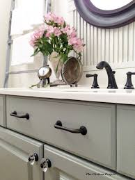 bathroom vanity makeover ideas melamine powder room vanity makeover without stripping sanding