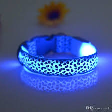 light up collar amazon light up dog collars nylon led reflective light up dog night light