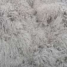 light grey mongolian sheepskin bean bag hides of excellence