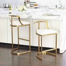 Bar Stool For Kitchen Kitchen Beautiful Turquoise Bar Stools In A White Kitchen Step