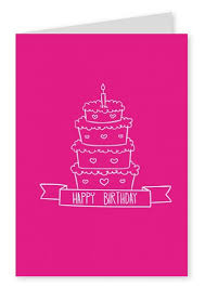 pink celebration happy birthday cards send real postcards online