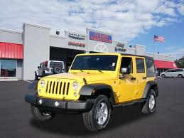 yellow jeep wrangler unlimited new jeep wrangler unlimited sport 2015 for sale fl567299
