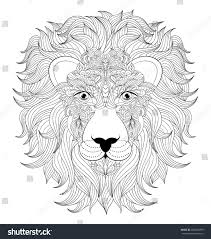 vector illustration colorful head lion on stock vector 406963099