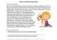 level 4 reading comprehension worksheets and unseen passage for