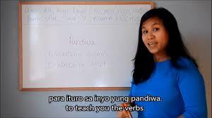 learn tagalog filipino lesson 8 verbs part 1 pandiwa