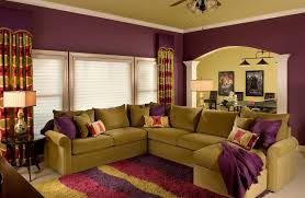 Best Colour Combination For Home Interior Best Color For A Room With Unique Purple And Green Livingroom