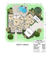 Single Story Ranch House Plans Ridgeview Ranch Courtyard House Plans Floor With Indoor Hahnow