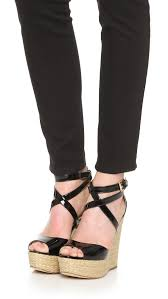 Lyst Michael Michael Kors Gabriella Wedge Sandals In Black