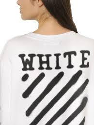 off white c o virgil abloh spray paint effect cotton sweatshirt in