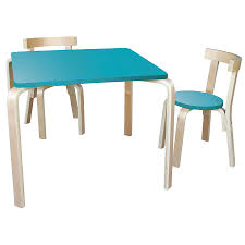 jolly kidz scandi table and chairs 60cm square teal toys r us