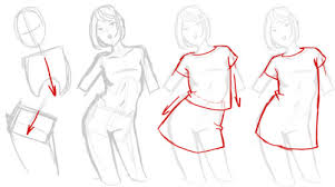 how to draw skirts via on we heart it