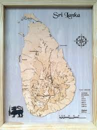Map Of Sri Lanka I Made A 3d Topographic Wood Map Of Sri Lanka Album On Imgur