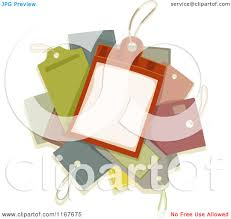 of a pile of price tags royalty free vector clipart by