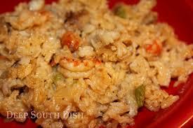 south dish crawfish jambalaya rice dressing