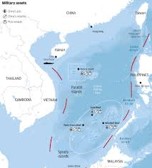 South China Sea On Map by Beijing Sounds Warning Over Latest Us Navy Patrol In South China