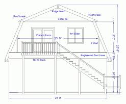 Gambrel Cabin Plans Gambrel Roof House Plans Gambrel Roof House Plans Prospect