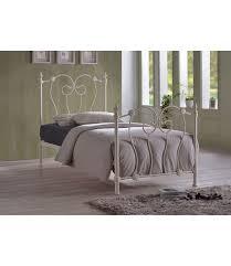 Metal Frame Single Bed Ivory Metal Frame Single Bed