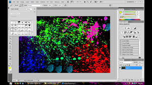 how to make a paint splatter effect in photoshop youtube