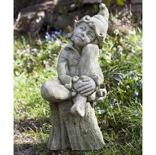 fairy garden statues outdoor contemplating gnome garden statue garden statues to