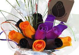 amazon com the original wooden rose black orange and purple